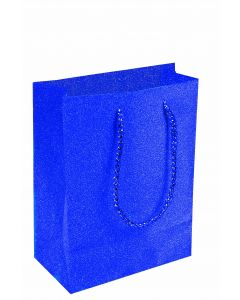 "9""X 7"" Royal Blue Diamond Gift Bag"