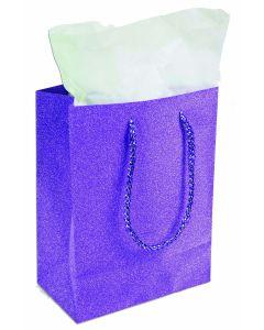"9""X 7"" Purple Diamond Gift Bag"