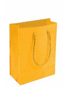 """9""""X 7"""" Gold Diamond Gift Bag"""