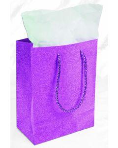 "9""X 7"" Hot Pink Diamond Gift Bag"