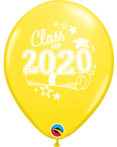 "11"" Class of 2020 Yellow 50ct"