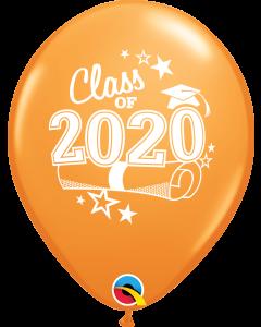 "11"" Class of 2020 Orange 50ct"
