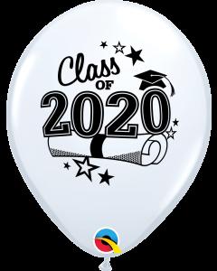 "11"" Class of 2020 White 50ct"