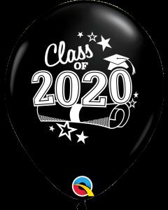 "11"" Class of 2020 Onyx Black 50ct"