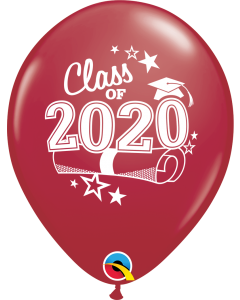 """11"""" Class of 2020 Maroon 50ct"""