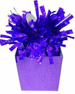 Purple Diamond Box Balloon Wgt.
