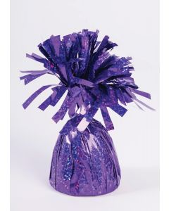 Purple Holographic Balloon Wgt