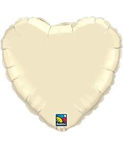 "18"" Pearl Ivory Heart"