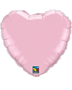 """18"""" Pearl Pink Heart"""
