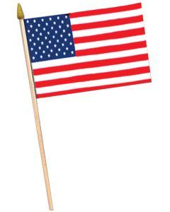 "12"" X 18"" CLOTH U.S. FLAG DZ"