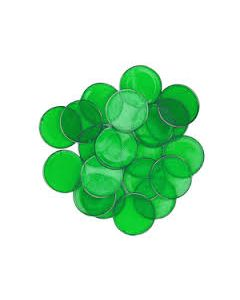 "7/8"" Green Plastic Chips 250ct"