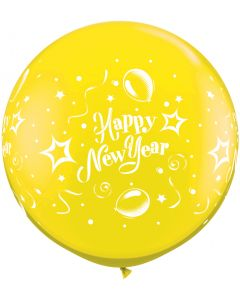 3' New Year Party Citrine Yellow