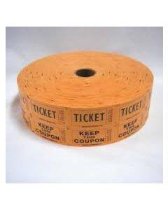 Orange Raffle Tickets 2000 Roll
