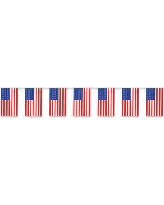 50' US Flag Pennants
