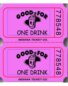 Pink Drink Tickets 2000 Roll