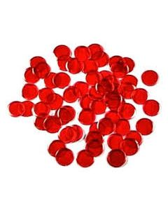 """7/8"""" Red Plastic Chips 250ct"""