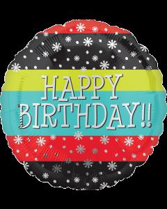 "18""Confetti Stars Birthday"