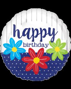 "18""Sketched Flowers Birthday"