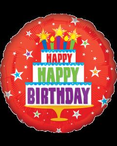 "18""Birthday Cake Red"