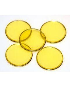"7/8"" Yellow Plastic Chips 250ct"